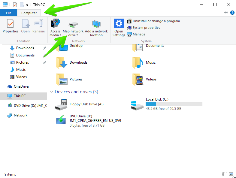 how to give access to c drive on windows 10